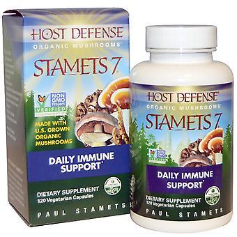 Fungi Perfecti, Stamets 7, Daily Immune Support, 120 Vegetarian Capsules
