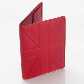 Red Britannia leather passport holder