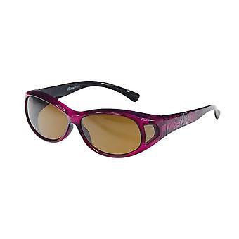 Sunglasses women fuchsia with brown lens VZ0007H4