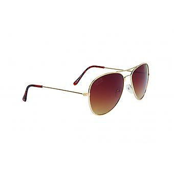 Sunglasses Unisex Pilot Cat.3 gold/brown (018)