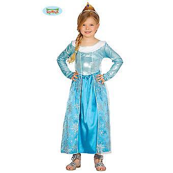 Blaues Prinzessin Kostüm für Mädchen Eis Kinderkostüm Königin Fasching Karneval Märchen