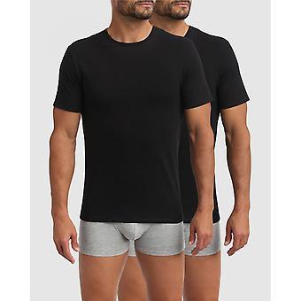Pack De 2 T-shirts Homme Col Rond Noirs