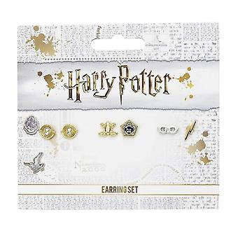 Harry Potter Chocolate Frog, Harry's Glasses and Time Turner Stud Earrings Set