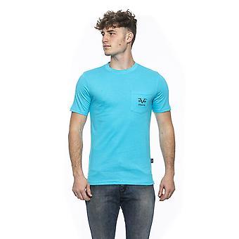 Turchese turquoise round neck t-shirt