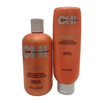 CHI Deep Brilliance Shampoo 12 OZ & Protein Rekonstruktor 6 OZ Set