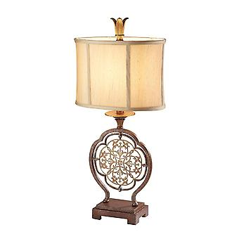 1 Lys bordlampe Britisk bronze, E27