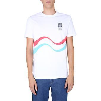 Ps Door Paul Smith M2r011rep218901 Men's White Cotton T-shirt