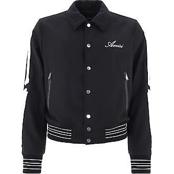 Amiri W0m04364woblk Men's Black Polyester Outerwear Jacket