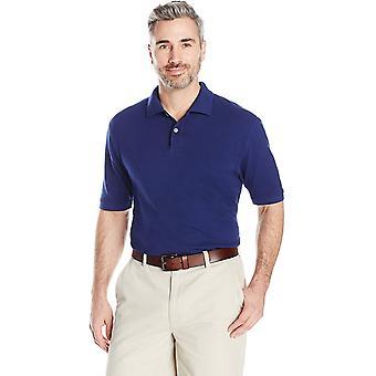 Essentials Men's Regular-Fit Cotton Pique Polo Shirt, Navy, Medium