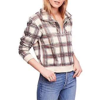 Free People | Why Not Plaid Zip-Front Sweater