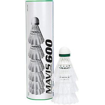 Yonex Mavis 600 Shuttles (Tube of 6) White