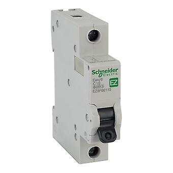 Schneider Electric EZ9F66110 EASY9 10A 1 Pole Type C Miniature Circuit Breaker