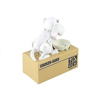 Honden spaarpot - elektrische munten bewaarder - Wit