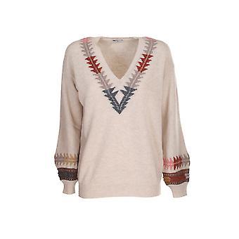 Etro 194079153800 Women's Beige Wool Sweater
