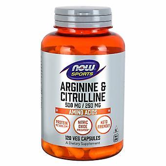 Nyt Elintarvikkeet Arginiini & Sitrusliini, 500 mg /250 mg, 120caps
