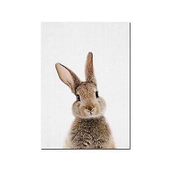 ארנב זנב ארנב וול ארט תמונה יער חיה בד - פוסטר משתלה