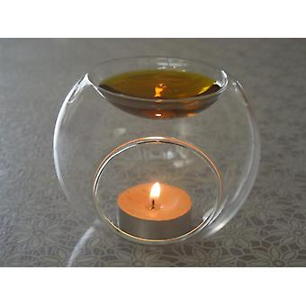 Essential Fragrance Oil Holder - Micro Landscape, Glass Candlestick Candle
