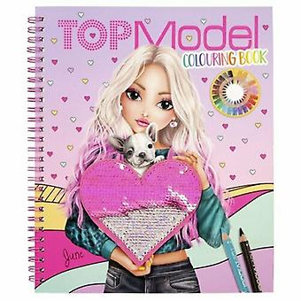 TOP Model Colouring Book with Reversible Sequins