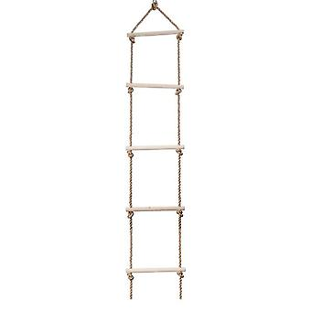 Kids Multi Rungs Wooden Rope, Ladder Climbing Toy - Swing Parent-child Outdoor