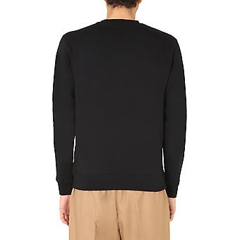 Msgm 2940mm6820759999 Men's Black Cotton Sweatshirt