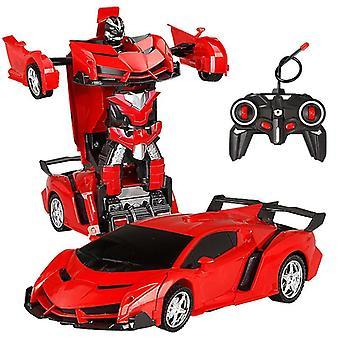 Rc Car Transformation Robots Sports Vehicle, -for Boys