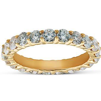 1 3/8 Ct TDW Diamond Eternity Ring Delte Gren Jubilæum Band 14k Gult guld