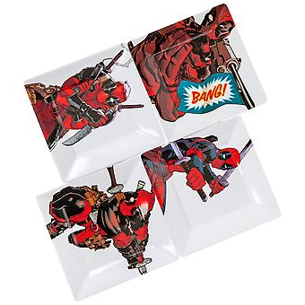 Deadpool Action Pose 4-Pack Kunststoff Platte Set