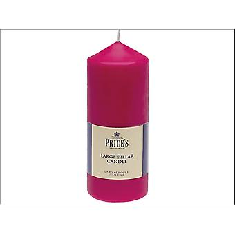 Prices Pillar Candle Red 6in CDD060605