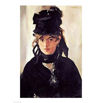 Berthe Morisot with a Bouquet of Violets 1872 Poster Print by Edouard Manet (18 x 24)