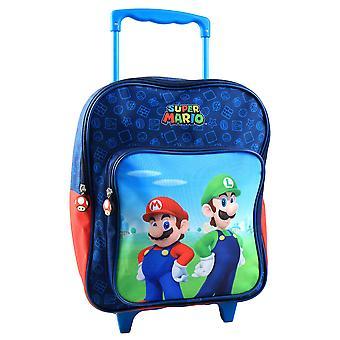 Super Mario és Luigi suitcase hátizsák kocsi 44x28x15cm