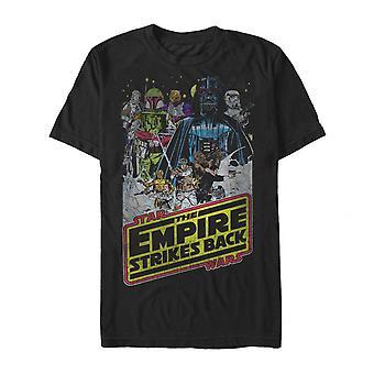 מלחמת הכוכבים האימפריה יצוקה וחולצה שחורה לוגו