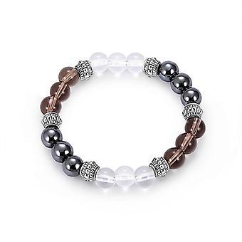 Trendy 8mm Buddha Beads Bracelet Natural Stone Casual Gradient Beaded Bracelet