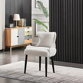 Oliver Lux Velvet Dining Chair Cream