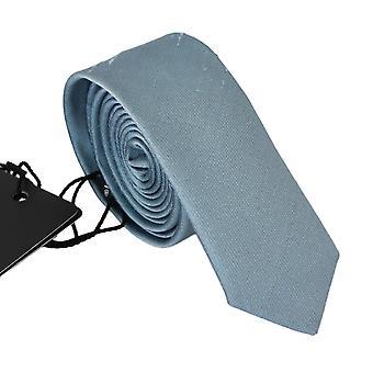 Vaaleansininen 100 % silkkileveä klassinen solmio