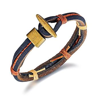 Handmade leather bracelet in authentic style