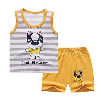 Puuvilla Kesä Vauvan Pehmeä Shortsit Puku T-paita