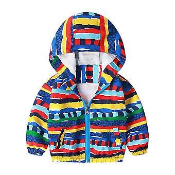 Manteau à capuchon de veste d'enfant d'automne d'enfants, vêtement d'extérieur, coupe-vent de printemps