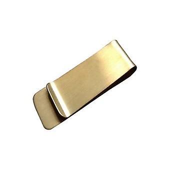 Carteira de clipe de metal de aço inoxidável, carteiras de porta-grampos de dinheiro de dólar de moeda