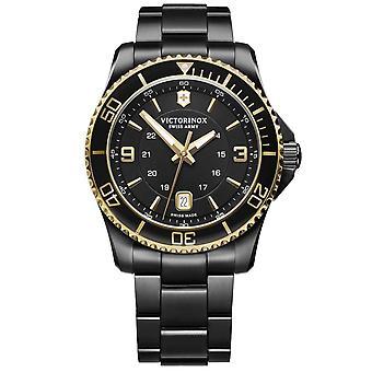 Victorinox Swiss Army 241884 Maverick Large Gold & Black Stainless Steel Men's Watch