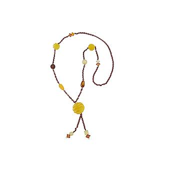 Collier Yellow Spiral Pearl 90cm