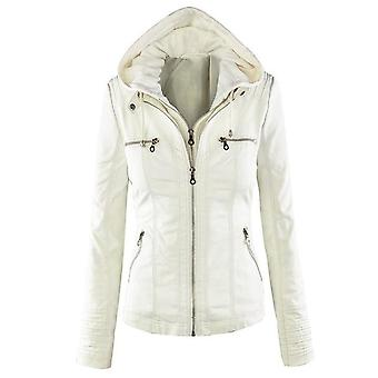 Shenandoah womens faux leather hooded jacket