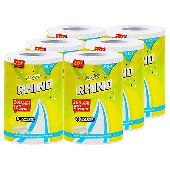 Freedom Rhino Jumbo Wave Luxury Kitchen Towel Rolls, 1Pk x 6 Rolls