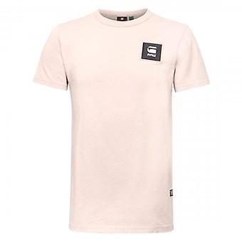 G-Star Badge Logo Slim T-Shirt Light Pink D18197 C336