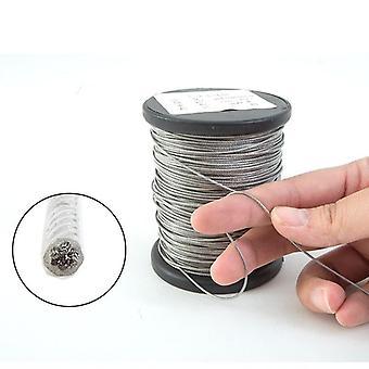 Pvc átlátszó bevonatú kábel rozsdamentes acél kötél szárítókötél
