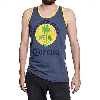Corona Extra Löytää ranta haalistunut sininen säiliö toppi