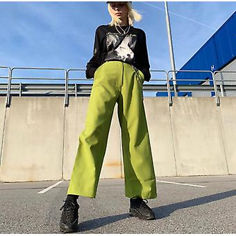 Metal Chain Decoration Loose Wild Casual Wide Leg Pants Slim Trousers