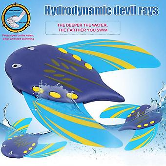 Swimming Adjustable Fins Underwater Glider Bathtub Pool Devil Fish Toy