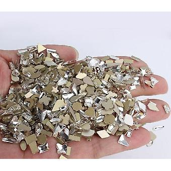Random Nail Rhinestones Flat Crystal Irregular Diamonds Nail Art Decoration