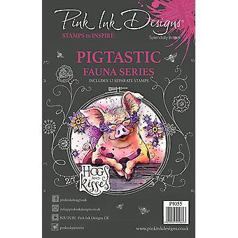 Pink Ink Designs Clear Stamp Pigtastic A5