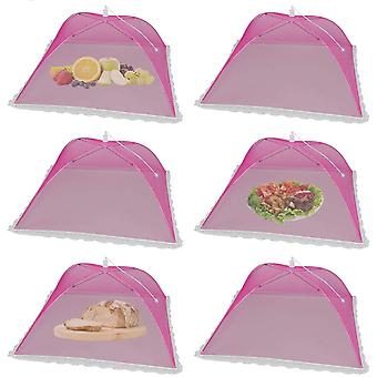 6 Pack Pop-up Picnic Food Tent Covers, Foldable Mesh Screen Food Covers